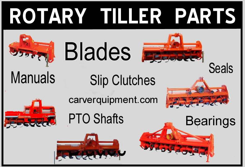 Rotary Tiller Parts Phoenix M Series Carver Equipment