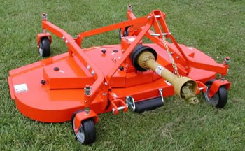 Finishing Mower on Yanmar Tractor Attachments